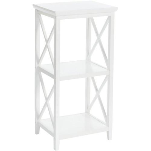 RiverRidge Home Products Bathroom Cabinets RiverRidge X-Frame 3-Shelf Storage Tower [option : White]