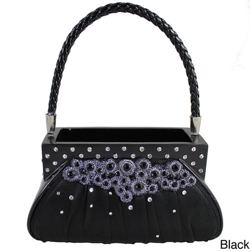 Jacki Design Dazzling Gems Handbag Brush Holder