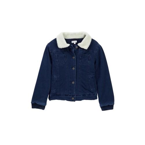 Faux Shearling Jacket (Toddler Girls)