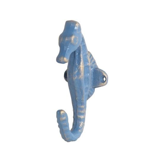 Privilege International Accent Pieces Privilege Blue Cast Iron Seahorse