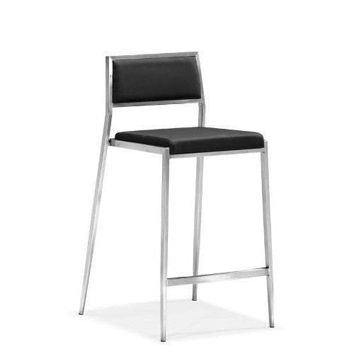 Zuo Dolemite Counter Chair, Black (Set of 2)