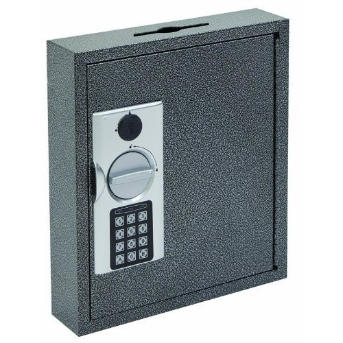 Hercules KE1002-30 Electronic Lock Key Cabinet, Holds 30 Keys, 9.87