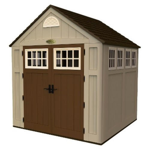 Suncast Alpine 7 ft. 5-3/4 in. x 10 ft. 8 in. Resin Storage Shed