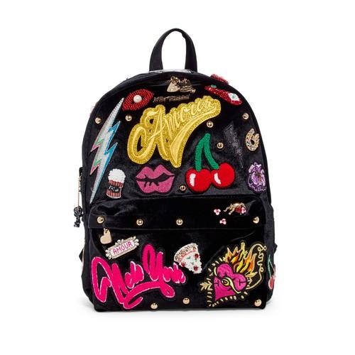 Baby's Got Back Embellished Velvet Backpack
