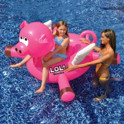 Swimline NT2867 LOL! Pig Inflatable Ride-On Pool Toy