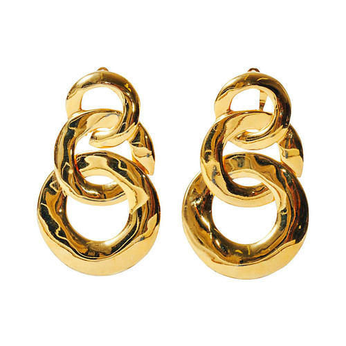 Triple-Link Circle Earrings