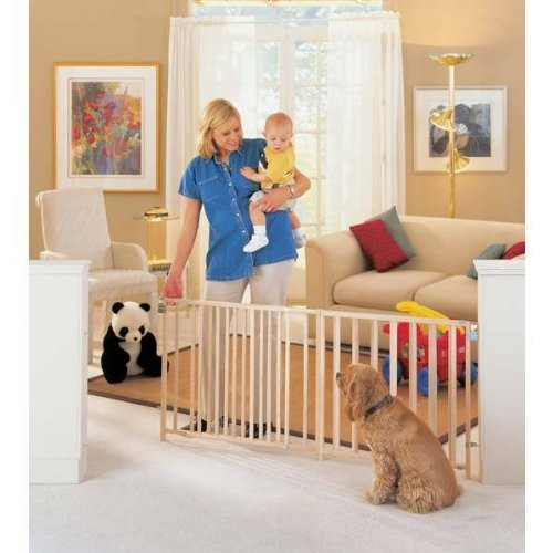Extra-Wide Swing Pet Gate [Brown]