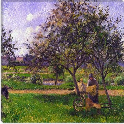 iCanvas ''The Wheelbarrow'' by Camille Pissarro Painting Print on Canvas; 37'' H x 37'' W x 0.75'' D