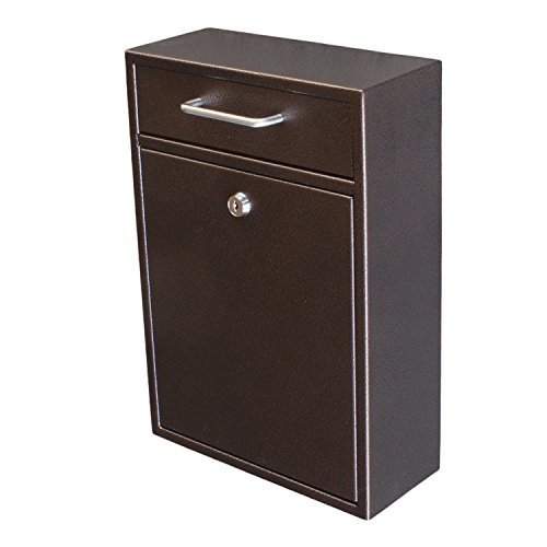 Epoch Design Locking Drop Box Wall Mounted Mailbox, Bronze [Bronze]
