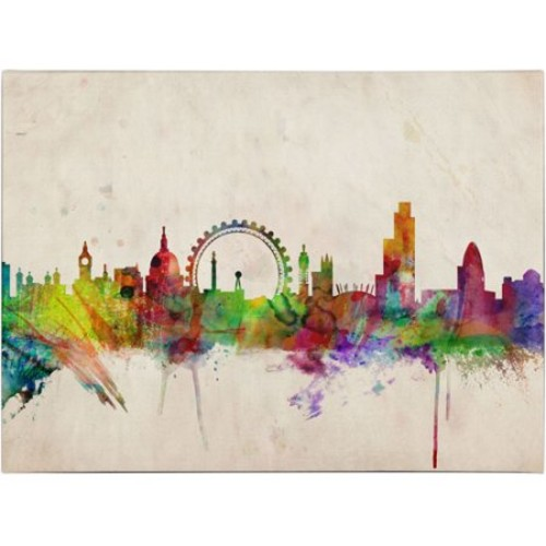 London Skyline by Michael Tompsett, 14 by 19-Inch Canvas Wall Art [14 by 19-Inch]