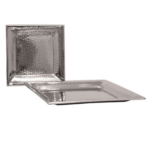 Artisan Metal Works Square Stainless Steel Serving Tray, 2-Pk