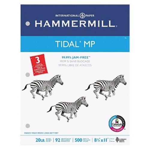 Hammermill Tidal MP Copy 3-Hole Punched Paper, 92 Brightness, 20 lb - White (5000 Per Carton)