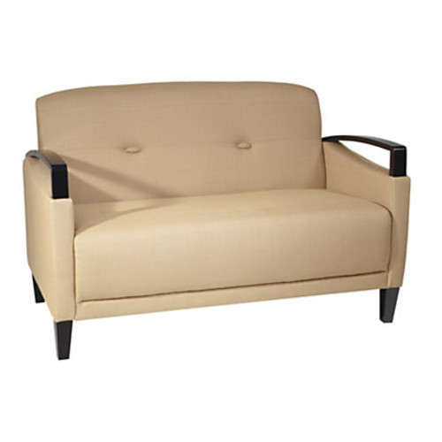 Ave Six Main Street Loveseat, Woven Wheat/Espresso