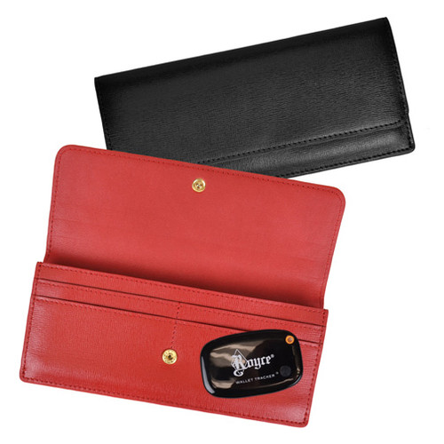 Royce Leather GPS Tracking and RFID Blocking Credit Card Clutch Wallet in Saffiano Leather