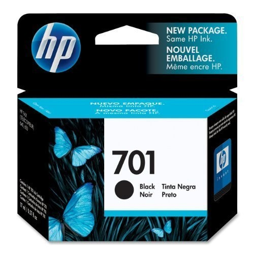 HP 701 CC635A Ink Cartridge in Retail Packaging-Black