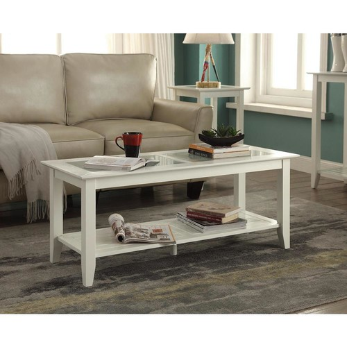 Convenience Concepts Carmel White Coffee Table