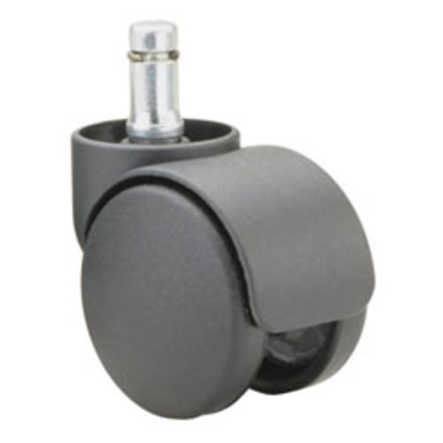 Master Caster Futura Series Casters, Soft Wheel, Stem B For Metal Base, Pack Of 5