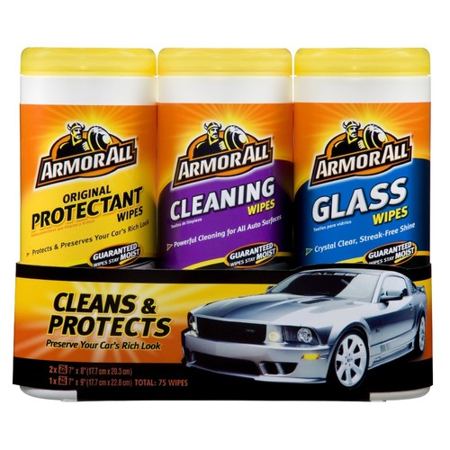 Armor All Wash and Wax Wipes - Triple Pack