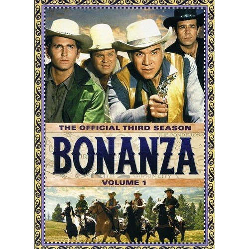 Bonanza: The Official Third Season, Vol. 1: Jeff Morrow, John McGiver, Maggie Hayes, Arnold Stang, Beatrice Kay, Faith Domergue, Mercedes McCambridge, Vic Morrow, Jan Merlin, John Abbott, John Carradine, Lisa Lu, Robert Culp, Herschel Bernardi, Kathie Browne, Ben Cooper, Dean Jones, David Canary, Michael Landon, Pernell Roberts, Lorne Greene, Dan Blocker, Audrey Dalton, Hayden Rorke, Eileen Ryan, Erika Peters, Norman Leavitt, Paul Richards, Philip Ahn, R.G. Armstrong, Ray Teal, Richard Loo, Selmar Jackson, Hal Jon Norman, Robert Christopher, Karen Steele, Lou Frizzell, Michael McGreevey, Mitch Vogel, Scatman Crothers, Russell Thorson, Stafford Repp, Sue Ane Langdon, Robert Fortier, Tim Matheson, Vito Scotti, Jim Beck, Joan Staley, Claude Johnson, Clem Bevans, Don Burnett, Harry Lauter, Ian Wolfe, Jacqueline Scott, Addison Richards, Catherine McLeod, Chubby Johnson, Al Ruscio, Bill Catching, Bill Zuckert, Burt Mustin, Dabbs Greer, Dan Sheridan, Don Wilbanks, Ed Prentiss, Edward Faulkner, Evelyn Scott, Grace Gaynor, Hal Baylor, Harry Swoger, Janet Lake, Jean Engstrom, John Alderson, Sean McClory, Stacy Harris, Robert Adler, Norman Alden, Kevin Hagen, John Litel, Dave Willock, DeForest Kelley, Denver Pyle, Dorothy Neumann, James Griffith, David Manley, George Mitchell, Mort Mills, Ray Daley, Ray Hemphill, Raymond Mayo, Robert Ridgely, Sue Randall, Wally Brown, William Joseph Keene, Victor Sen Yung, Bonanza, David Orrick McDearmon, Robert Butler, Lewis Allen, Christian Nyby, John Peyser, William Witney, Robert Sparr, Thomas Carr, Robert Altman, Don McDougall, Richard Collins, Robert Blees: Movies & TV