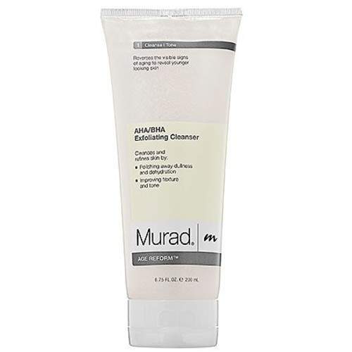 Murad Age Reform AHA/BHA Exfoliating Cleanser - (6.75 fl oz), An Intensive Face Cleanser with a Trio of Exfoliating Acids and Jojoba Skin-Polishing Beads to Reveal a Younger-Looking Complexion : Facial Cleansing Products : Beauty