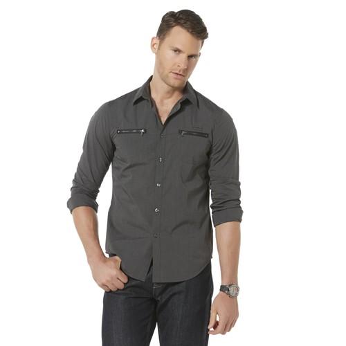 Structure Men's Zipper Dress Shirt [Fit : Men's]