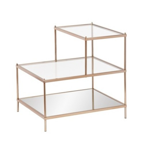 Paulina Accent Table Metallic Gold Finish - Southern Enterprises