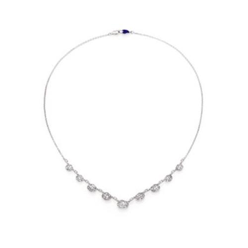 Ice Diamond & 18K White Gold Mini Pebble Station Necklace