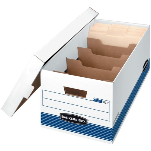 Bankers Box Stor/File Storage Boxes With 4 Dividers, Letter, 24
