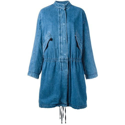 HELMUT LANG Fur Lined Denim Parka