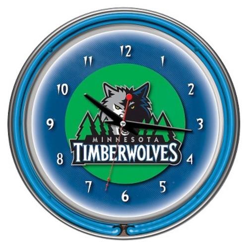Minnesota Timberwolves Team Logo Wall Clock