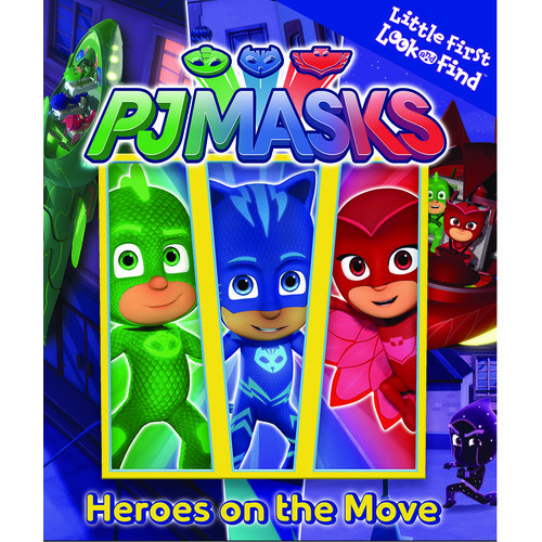 PJ Masks Heroes on the Move Little First Look and Find Book