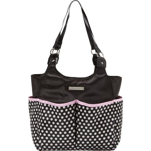 Smart Mommy Bags Classy Sassy Black and White Polka Dot Diaper Bag