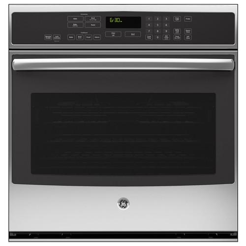 GE Profile 30 in. Single Electric Wall Oven Self-Cleaning with Convection in Stainless Steel PT9050SFSS