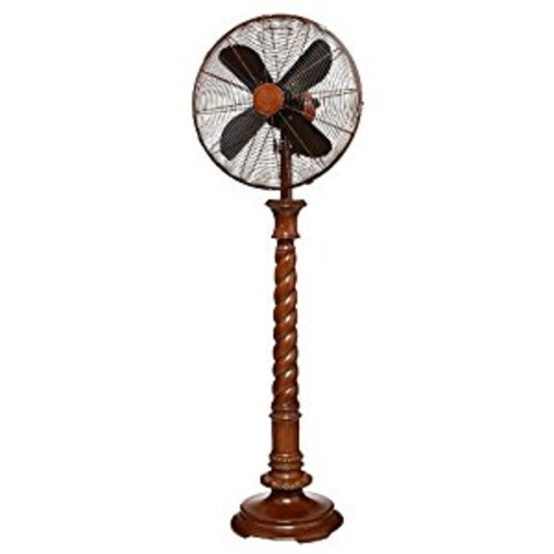 DecoBREEZE Pedestal Fan Adjustable Height 3-Speed Oscillating Fan, 16-Inch, Raleigh [Raleigh]