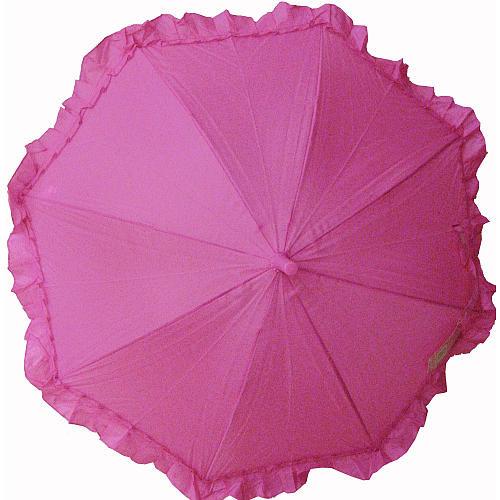 Ruffle Umbrella - Hot Pink
