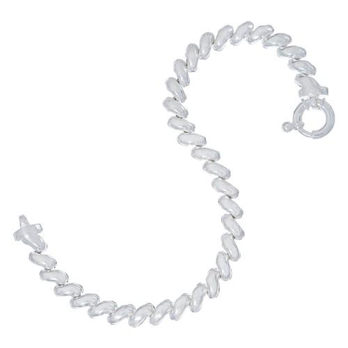 UltraFine Silver Petite San Marco Bracelet, 8.0g