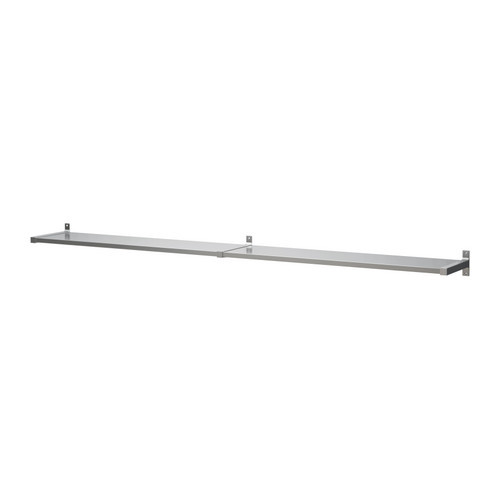 EKBY MOSSBY / EKBY BJRNUM Wall shelf, stainless steel