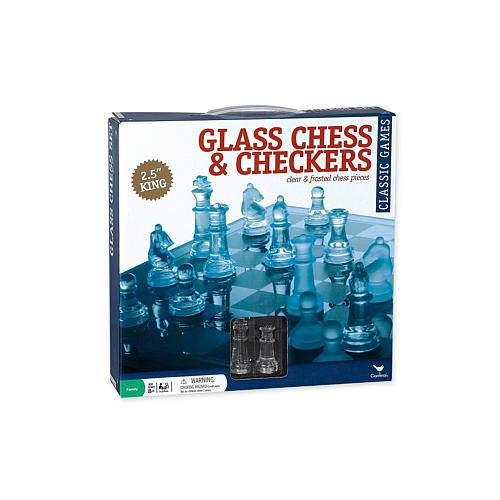 Pavilion Games Glass Chess Set
