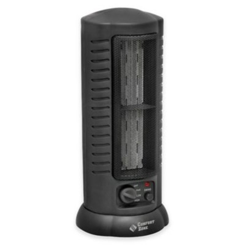 Comfort Zone Oscillating Tower Heater/Fan