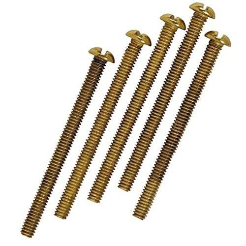 5PK BRS RND Head Screw, Package of 6 [6]