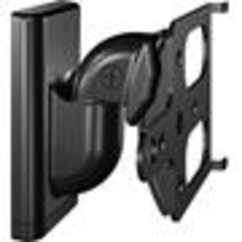 Sanus WSWM2 (Black) Pair of adjustable wall-mount brackets for Sonos PLAY:1 and PLAY:3 speakers