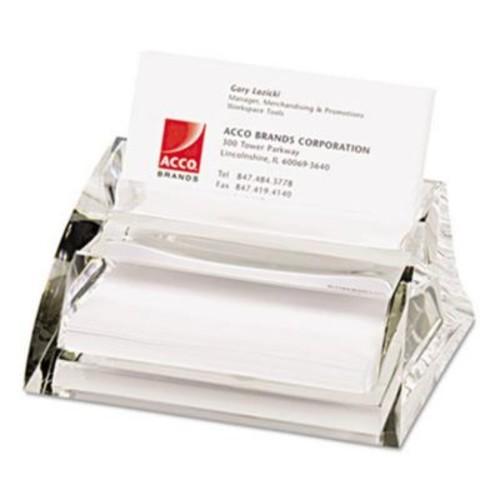 Swingline Stratus Acrylic Business Card Holder, Clear (AZTY15190)