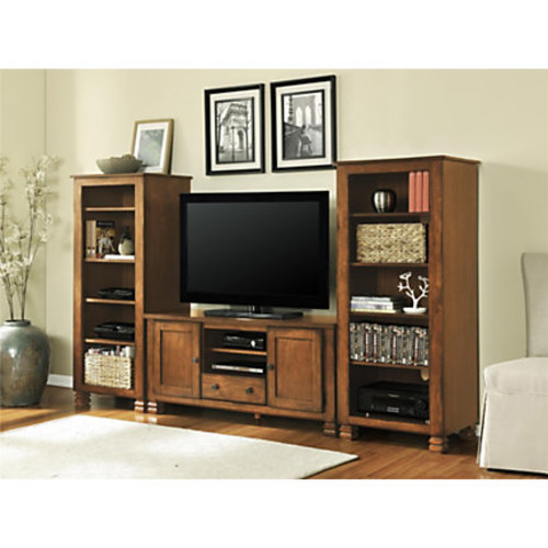 Ameriwood Home Summit Mountain Solid Wood TV Stand For Flat-Panel TVs Up To 55