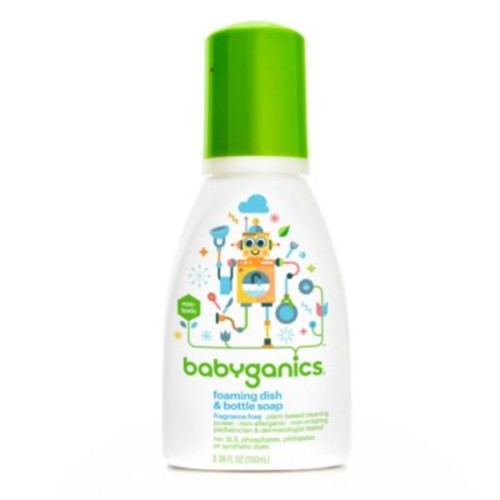 Babyganics 3.38 oz. Fragrance-Free Foaming Dish & Bottle Soap