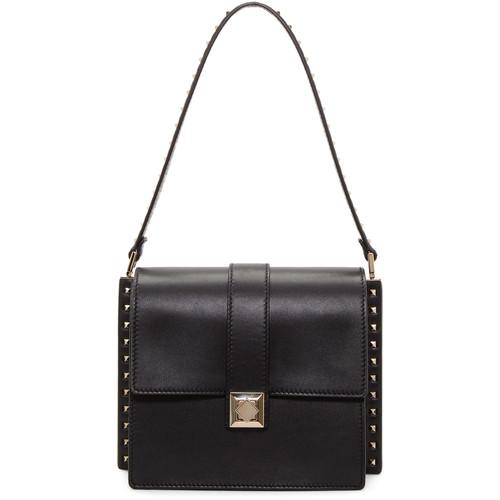 Black Valentino Garavani Rockstud Boxy Trunk Bag