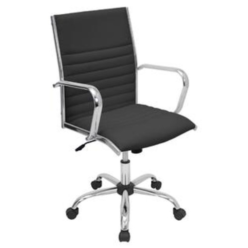 Lumisource OFC-AC-MSTR-BK Master Height Adjustable Office Chair with Swivel