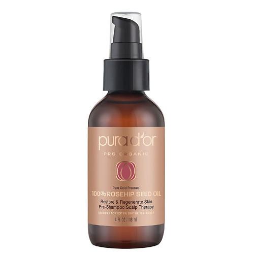 Pura D'or Pro Organic 100% Rosehip Seed Oil -- 4 fl oz