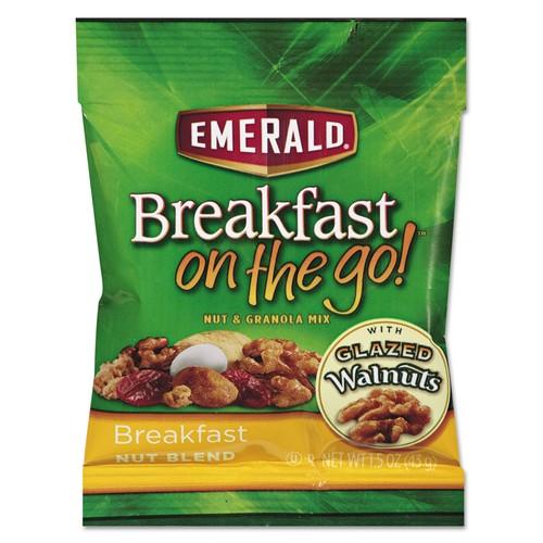 Emerald Breakfast on the go, Breakfast Nut Blend, 1.5oz Bag, 8/Box | PJP Marketplace