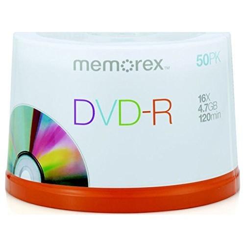 Memorex 4.7GB/120-Minute 16x DVD-R - 100 Discs