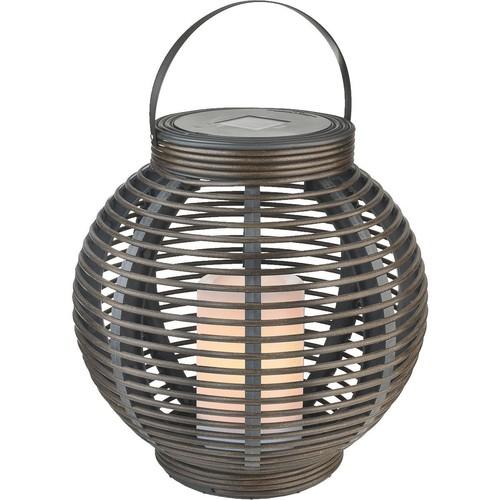 Paradise LED Rattan Basket Solar Patio Light - GL29353BR